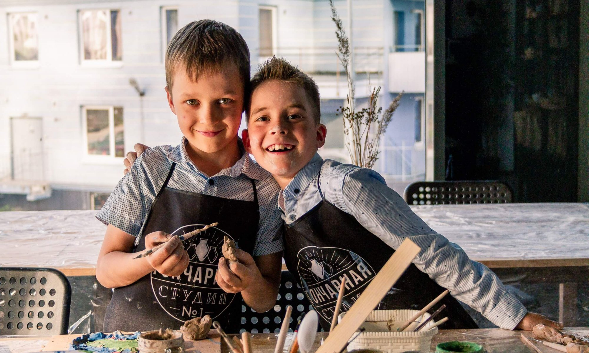 веселые ребята в гончарной